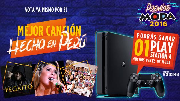 ¡Un Play Station 4 aguarda por ti! Elige a la 'Mejor canción hecha en Perú' de los 'Premios Moda 2016'