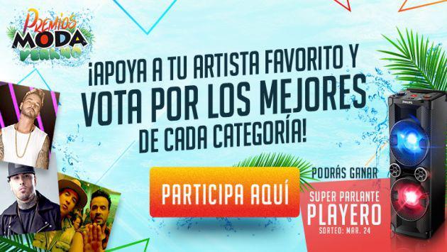 ¡Vota por tus artistas favoritos en los Premios Moda Verano y podrás llevarte este premio!