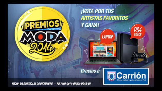 Gana un PS4 y una laptop en los Premios Moda 2014