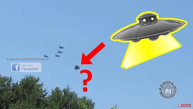 En YouTube, supuesto ovni escoltado por aviones de guerra causa furor [VIDEO]