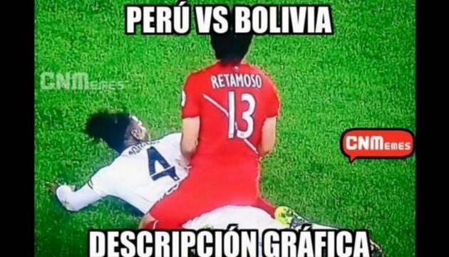 Retamoso y sus memes del Perú - Bolivia