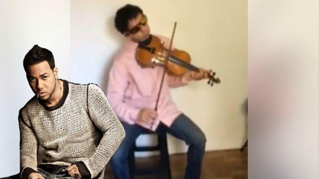 ¡Este violinista ciego la rompe con tema de Romeo Santos!