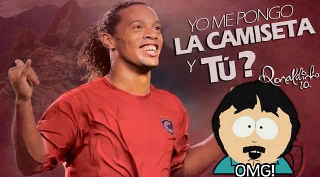 ¡No es broma! Ronaldinho jugará con Cienciano