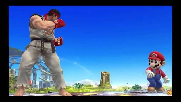 Ryu ingresa como personaje a Super Smash Bros