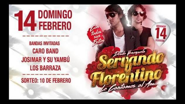 Radio Moda te lleva al concierto de SERVANDO Y FLORENTINO este 14 de febrero en Barranco Arena