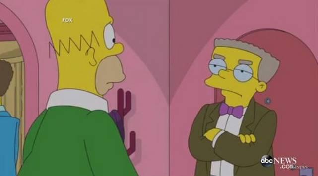 ¡Smithers de 'Los Simpsons' confesó ser gay!