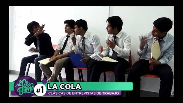 YouTube: De Barrio y las clásicas entrevistas de trabajo