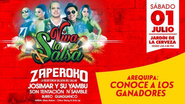 ¡Estos son los ganadores de las entradas para el festival 'Viva la Salsa' de Arequipa!