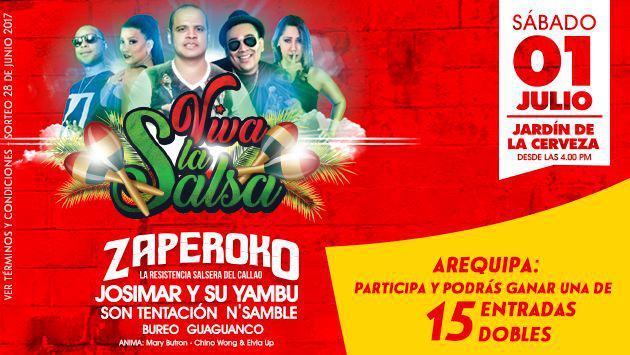 ¡Tenemos entradas para el festival 'Viva la Salsa' con estos artistas! Participa aquí