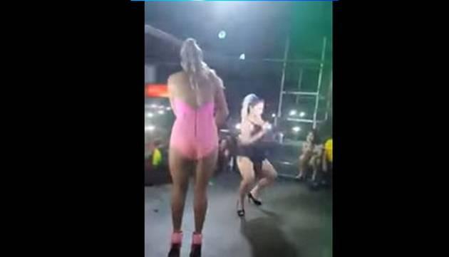 Bailarina deja 'chiquita' a Yahaira Plasencia bailando