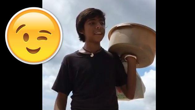 Este adolescente de 15 años se volvió famoso por su increíble forma de vender empanadas [VIDEO]