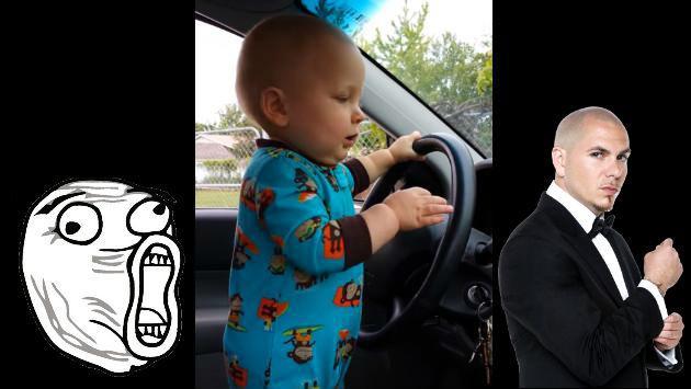 ¡Este bebé se 'achora' cada vez que le bajan el volumen a tema de Pitbull!