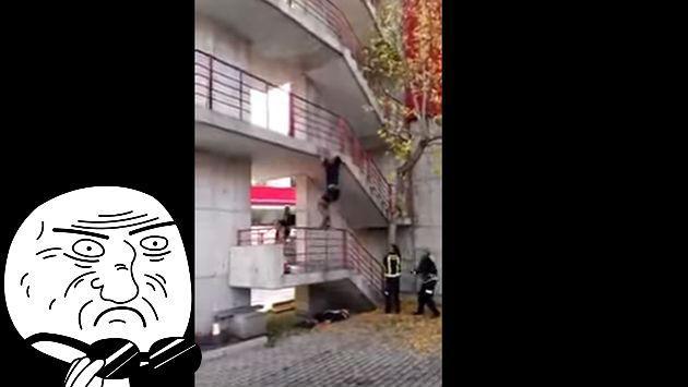 Este bombero 'Spiderman' puede trepar 9 pisos en segundos [VIDEO]