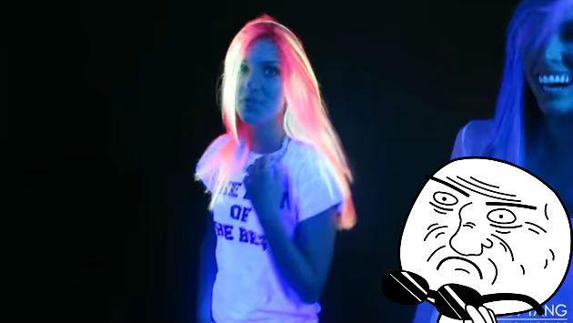 ¿Una cabellera que brilla en la oscuridad? Así se logró este truco
