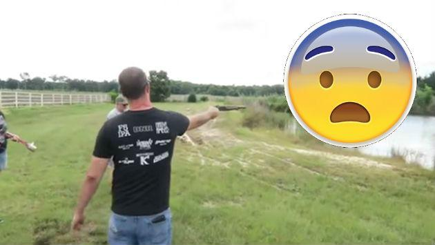 Se confió al disparar un rifle y puso en riesgo su vida y la de sus supuestos amigos