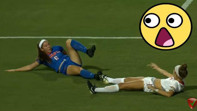 ¿Esta es la falta penal más extraña del fútbol femenino? [VIDEO]