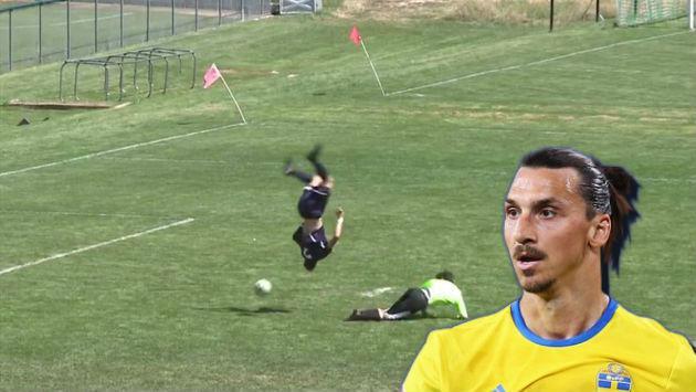 ¡Ni Zlatan Ibrahimovic se atrevería a hacer esta pirueta para marcar un gol!