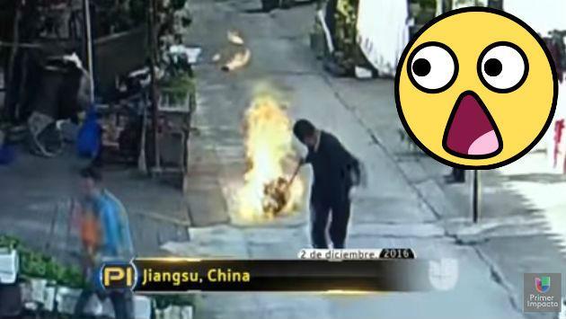 ¡Salvó a sus vecinos con esta temeraria acción! [VIDEO]