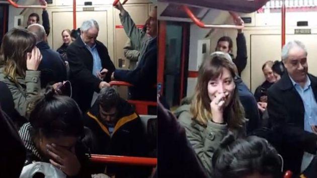 ¡Trabajadora de línea de tren olvidó apagar el micrófono y reveló intimidades a pasajeros!