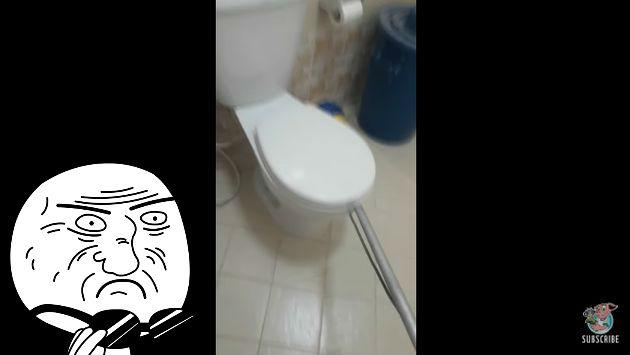 ¡Levantó la tapa del inodoro y se llevó esta terrible sorpresa! [VIDEO]