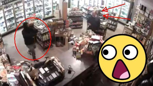 Entró a robar una tienda sin saber lo que le esperaba [VIDEO]