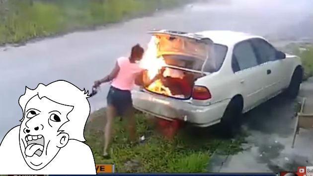 Quiso vengarse de su pareja quemando su carro, pero...