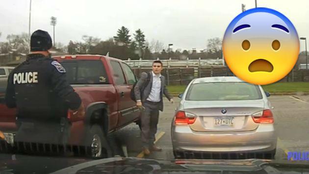 Policía sorprendió a estudiante intervenido con esta reacción [VIDEO]