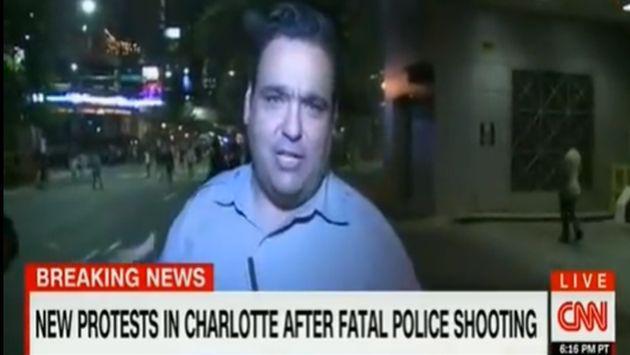¡Este reportero se llevó una no muy agradable sorpresa en plena transmisión!