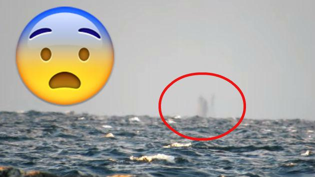 ¿Un barco fantasma? Extraña figura captada en lago genera intriga [VIDEO]