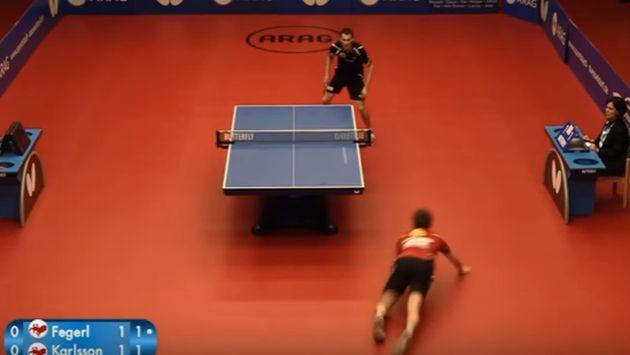¿Este es el punto más espectacular del tenis de mesa?