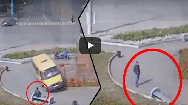 ¡Vehículo sin frenos atravesó una plaza y esto pasó!