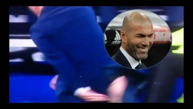 ¡Suave, profe! Así quedó el 'lompa' de Zidane