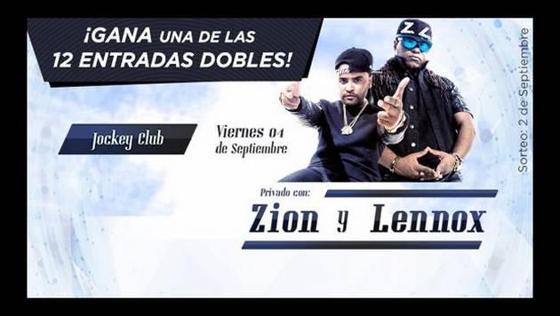 Zion y Lennox harán fiesta privada en el Jockey Club