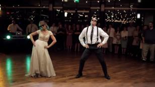 Ellos hicieron el baile más épico que se haya visto en una boda [VIDEO]
