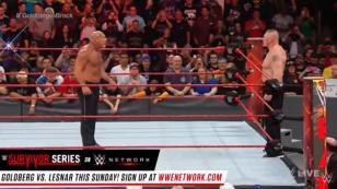 Goldberg y Brock Lesnar se vieron las caras en WWE y esto fue lo que pasó [VIDEO]
