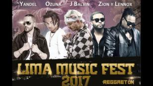 J Balvin , Ozuna , Zion & Lennox y Yandel juntos en el Lima Music Fest