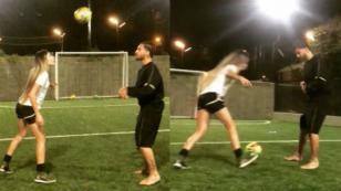 Así le fue a Maluma en competencia contra esta futbolista profesional [VIDEO]