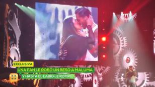 ¡Maluma fue mordido por una fan en pleno concierto! [VIDEO]