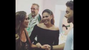 ¡Mira el encuentro de Maluma con Isabel Pantoja y la sobrina de esta! [VIDEOS]