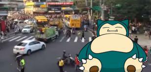 ¡Un Snorlax generó el caos en Taiwan! Mira este video