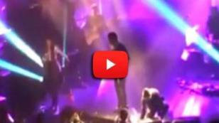 ¡Qué roche! Así reaccionó Thalía cuando un fan subió al escenario [VIDEO]