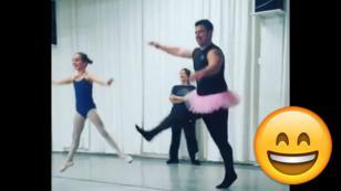¿Qué pasa cuando unos padres intentan imitar a sus hijas expertas en ballet? [VIDEO]