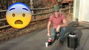 ¿Qué pasa si mezclas nitrógeno líquido con Coca Cola? [VIDEO]