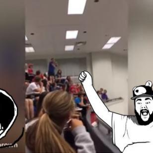 Es el héroe de YouTube por evitar que su salón dé examen. Así lo consiguió [VIDEO]