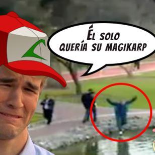 Cuando jugaba Pokémon Go distraído ¡se cayó a laguna en San Isidro!
