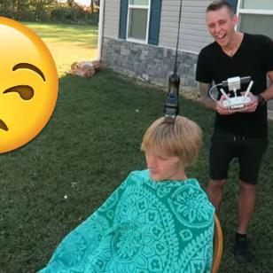 ¿Dejarías que un dron te corte el cabello? Mira este video