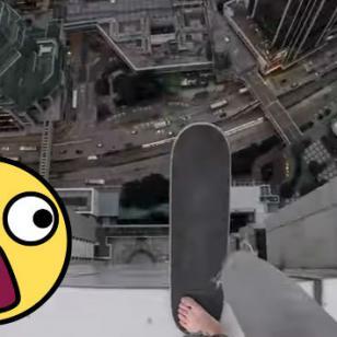 ¿Qué tan divertido puede ser montar skate en la cima de un rascacielos? [VIDEO]