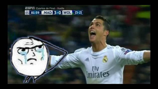 ¡Cristiano Ronaldo se comió al lobo de tres bocados!