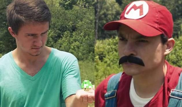 Mario bros. se mecha con Minecraft