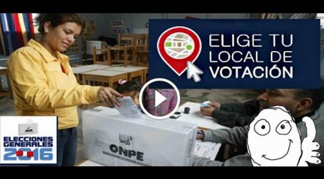 Ahora puedes elegir tu local de votación ¡Entérate cómo AQUÍ!